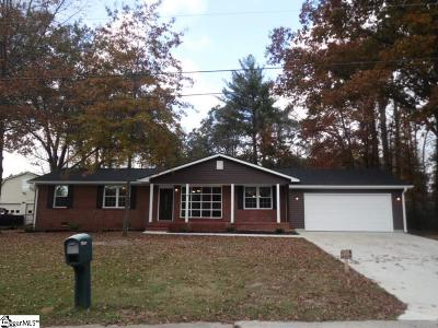 Greenville County Single Family Home For Sale: 4 Fairbrook