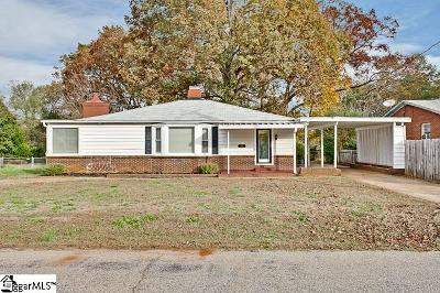 Greenville SC Single Family Home For Sale: $145,000