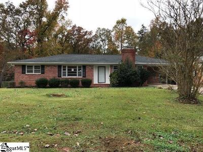 Spartanburg Single Family Home Contingency Contract: 124 Cornelius