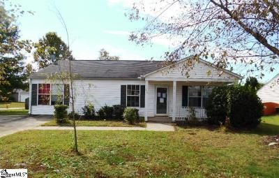 Simpsonville Single Family Home For Sale: 206 Tripmont