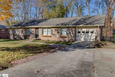 Mauldin Single Family Home Contingency Contract: 121 Montclair