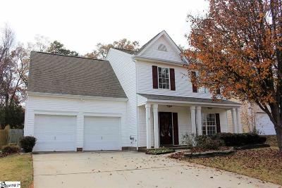 Simpsonville Single Family Home For Sale: 114 Crossview