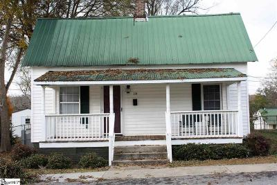 Fountain Inn Single Family Home Contingency Contract: 114 3rd