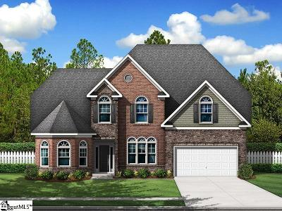 Simpsonville Single Family Home For Sale: 3 Lakeway #Homesite