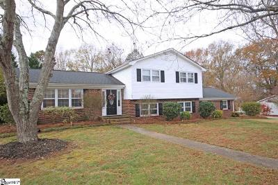 Simpsonville Single Family Home Contingency Contract: 108 Sandhurst