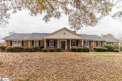 Spartanburg Single Family Home Contingency Contract: 215 Pineville