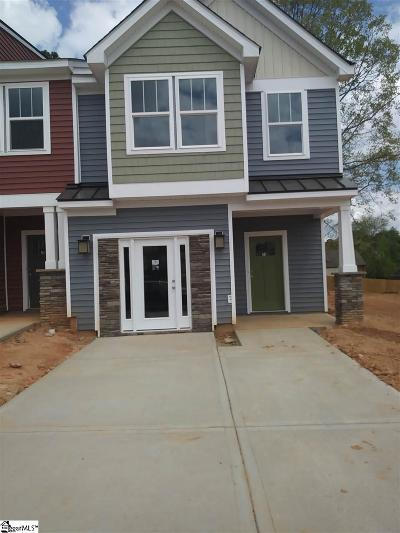 Spartanburg Condo/Townhouse For Sale: 201 Keaton #Lot 13