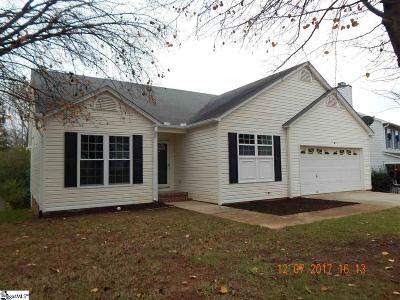 Simpsonville Single Family Home For Sale: 7 Greyleaf