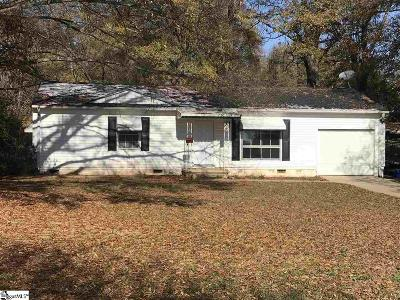 Greenville SC Single Family Home For Sale: $69,900