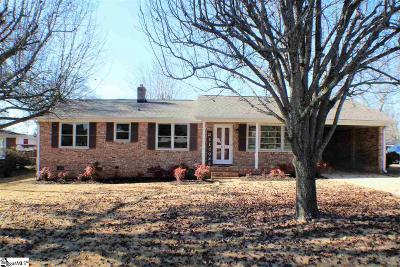 Greenville SC Single Family Home For Sale: $159,000