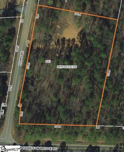 Simpsonville Residential Lots & Land Contingency Contract: 553 Hipps