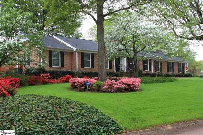 Spartanburg Single Family Home For Sale: 905 Wentworth
