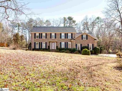 Spartanburg Single Family Home For Sale: 1708 Waterway