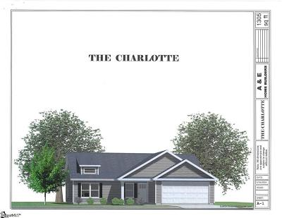 Travelers Rest Single Family Home For Sale: 225 Crown #Lot 13