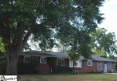 Anderson Single Family Home For Sale: 411 Harden