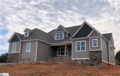 Greer Single Family Home For Sale: 115 Owens Creek #Lot 9