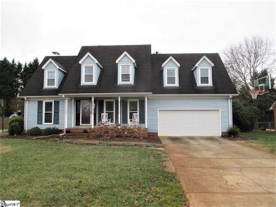 Greenville County Single Family Home For Sale: 714 Windward