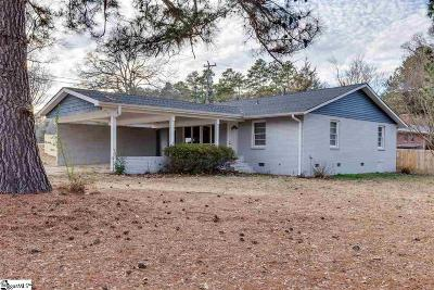 Greenville SC Single Family Home For Sale: $187,500