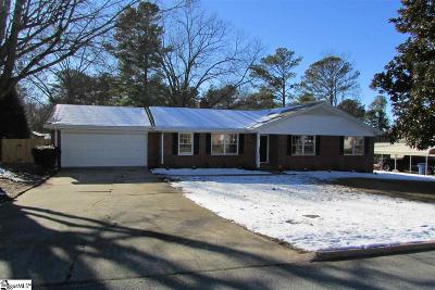 Simpsonville Single Family Home For Sale: 208 Needles