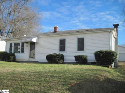 Greenville SC Single Family Home For Sale: $70,000