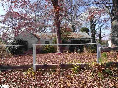 Greenville SC Single Family Home For Sale: $49,500