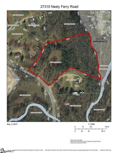 Simpsonville Residential Lots & Land For Sale: 27315 Neely Ferry