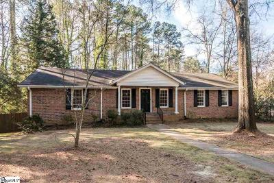 Spartanburg Single Family Home Contingency Contract: 128 Pine Acres