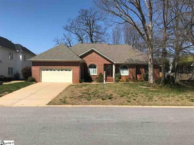 Greenville County Single Family Home For Sale: 108 Brushy Meadows