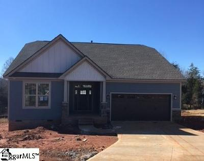 Travelers Rest Single Family Home For Sale: 409 Skyway #Lot 34