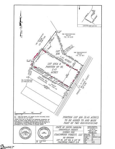 Simpsonville Residential Lots & Land For Sale: Prince Williams