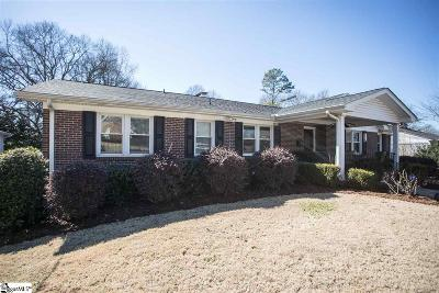 Greenville County Single Family Home For Sale: 126 Sunset