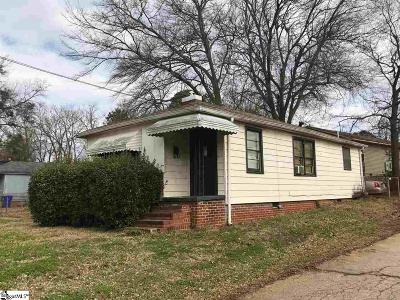 Greenville Single Family Home Contingency Contract: 125 Rebecca