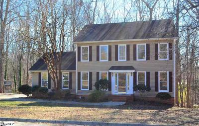 Simpsonville Single Family Home Contingency Contract: 501 Foxhound