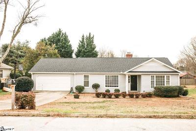 Greer Single Family Home Contingency Contract: 209 Richfield