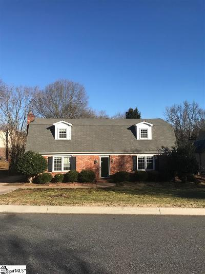 Greer Single Family Home For Sale: 106 Hedgewood