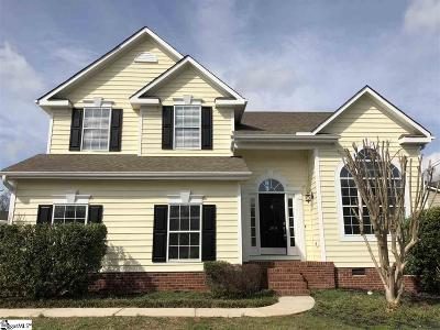 Simpsonville Single Family Home Contingency Contract: 208 Crossvine