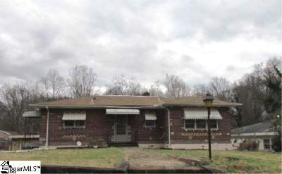 Spartanburg SC Single Family Home For Sale: $60,900