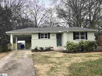 Greenville Single Family Home Contingency Contract: 17 Vintage