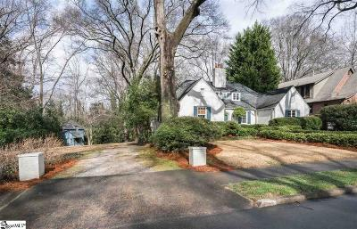 Greenville SC Single Family Home For Sale: $765,000