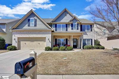 Simpsonville Single Family Home For Sale: 19 Crossbrook