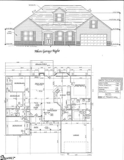 Piedmont Single Family Home For Sale: 116 Josie Creek #Lot 19