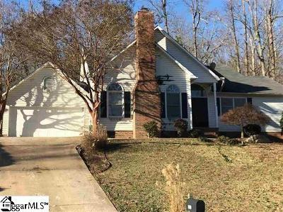 Greenville Single Family Home For Sale: 1110 Half Mile
