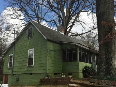 Greenville SC Single Family Home For Sale: $85,000