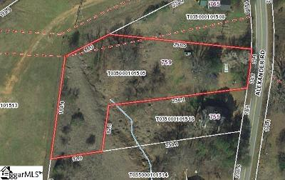 Taylors Residential Lots & Land For Sale: 759 Alexander