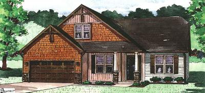 Travelers Rest Single Family Home For Sale: 56 Walker #Lot 4