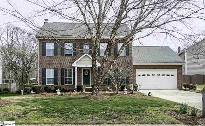 Simpsonville Single Family Home For Sale: 207 Crossvine