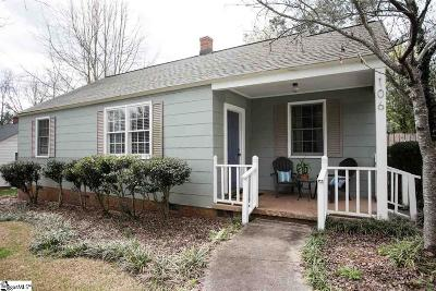 Spartanburg Single Family Home Contingency Contract: 106 Kreswell