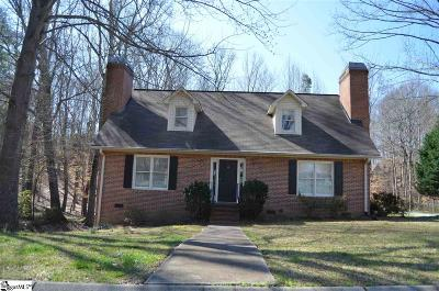Simpsonville Single Family Home For Sale: 510 Hunters Hill