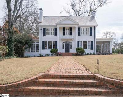 Greenville SC Single Family Home For Sale: $1,695,000