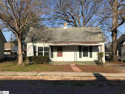 Greenville SC Single Family Home For Sale: $89,900